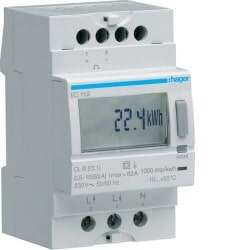 Compteur mono direct 63A double tarif Hager