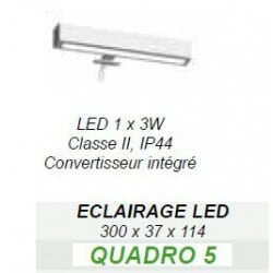 Eclairage LED Quadro CEDAM