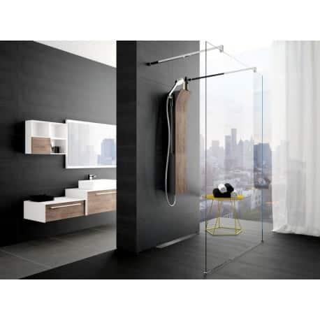 colonne de douche novellini vanity quip e montage de face version thermostatique. Black Bedroom Furniture Sets. Home Design Ideas
