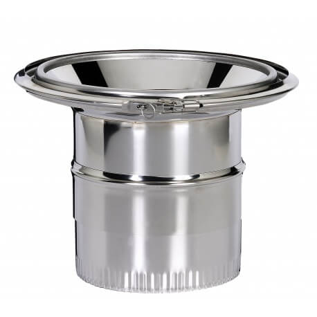 Reduction conique raccordement inox émaillé Poujoulat 230