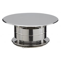 Chapeau aspirateur simple finition Inox - Inox CAI 31230037 Poujoulat