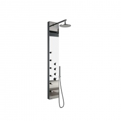 Colonne de Douche Hydro Square Inox Chrome Salgar